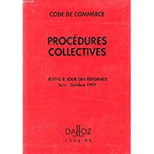 commerce. procedures collectives