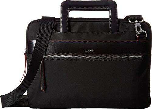 Lodis Kate Nylon Under Lock & Key Cora Laptop Crossbody (Black) by Lodis