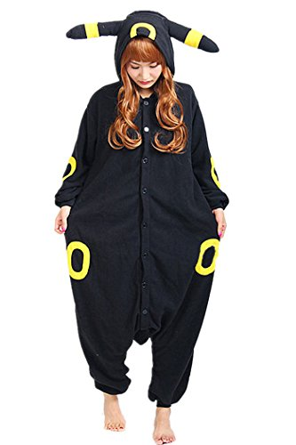 WOTOGOLD Animal Cosplay Costume Costume Unisex Adult Pajamas ,X-Large,Umbreon,Black ()