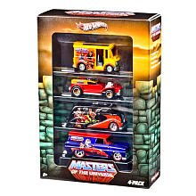 Hot Wheels Nostalgia Series Vehicle 4-Pack - HOT WHEELS MASTERS OF THE UNIVERSE DIE CAST COLLECTORS SET OF (Diecast Collector Set)