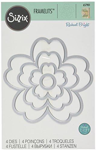 Sizzix Framelits Die Set 4/PK - Flowers #3 by Rachael Bright