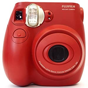 Fujifilm Instax Mini 7S Red Instant point-and-shoot camera with auto flash and auto focus (includes Fujifilm 10-pack film)