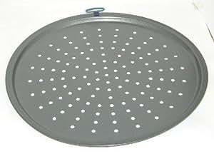 Bandeja con agujeros para dorar tarta/pizza - Acero al carbono - Diá. 33 cm - Calidad garantizada