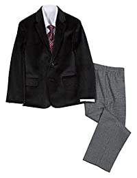 Nautica Littleboys - Conjunto de Traje para niño con Chamarra, pantalón, Camisa, y Corbata