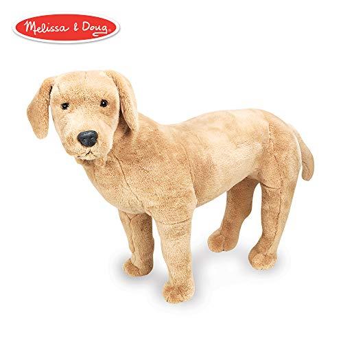 Melissa & Doug Giant Yellow Labrador - Lifelike Stuffed Animal Dog (nearly 2 feet tall) Classic Handcrafted Wooden Toy Car
