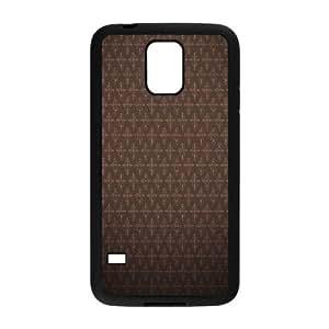 Kweet Brown Pattern Samsung Galaxy S5 Case Brown for Men, Phone Case for Samsung Galaxy S5, [Black]