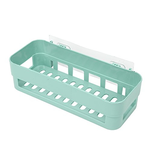 Yosoo Bathroom Shelves Space Saving Extra Strong Display Shelving Wall Mount Wall Storage Self Basket with Stick Tape for Bathroom Bedroom Kitchen(Green)