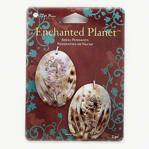 Etched Shell Pendant (Blue Moon Enchanted Planet Shell Pendants Seahorse)