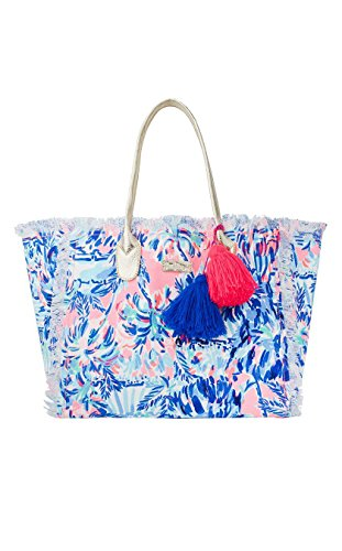 Lilly Pulitzer | Gypset Frayed Beach Tote | (Cabana Cocktail)