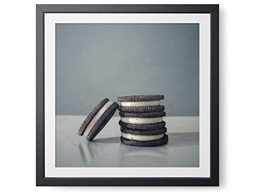 Stack of Cookies - Oil Painting Giclée Paper - or - Canvas Print Modern Home Office Wall Art Decor - Variety of Sizes Available - Wall Lighting Trio