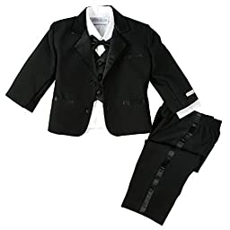 Spring Notion Baby Boys\' Black Classic Fit Tuxedo Set, No Tail Medium/6-12M