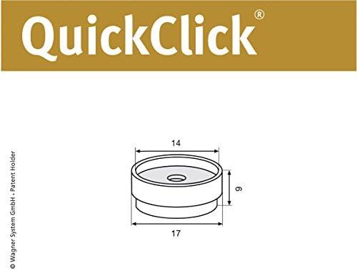 /15810400 Wagner QuickClick/® Sedia gleiter////Set di Ricambio gleiter////Natural/ /Diametro 17/mm/