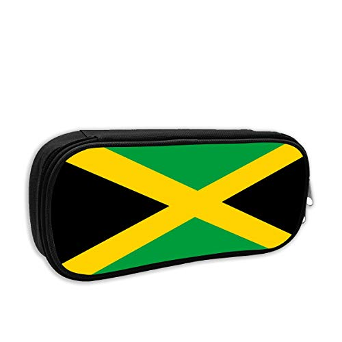 (S-charm Pencil Case Flag Jamaica Stationery Pencil Pouch Bag Case Cosmetic Makeup Bag)