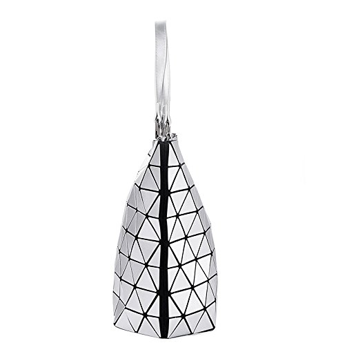 Fashion Shoulder MYLL Bucket Matte Bag Handbag New Silver Folding Pink Women's Bag 0q80rUwR