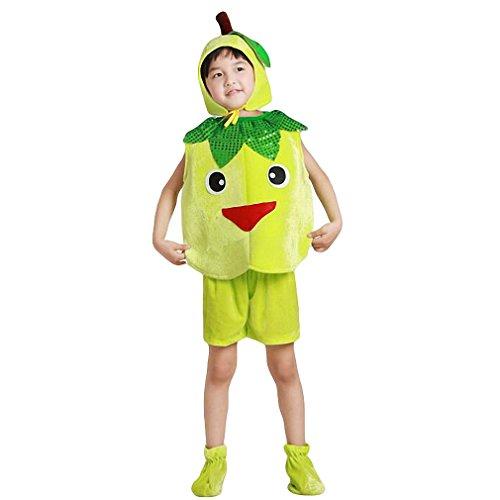 Halloween Kids Girls Boys Fruit Costume, Banana Role Play Cosplay Dress Up Suit (Height:100cm/ 39.4