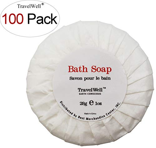 TRAVELWELL Travel Soap In Bulk Hotel Size Round Cleaning Soa