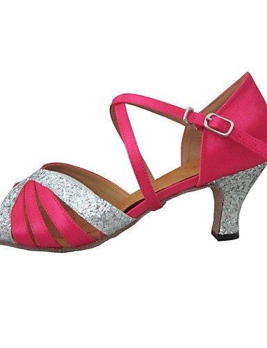 naranja nbsp;Satén rosa nbsp;– gefertigter Glitter métrica melocotón tacón nbsp;Latin nbsp;– nbsp;– nbsp;Mujer shangyi IZCvwqP