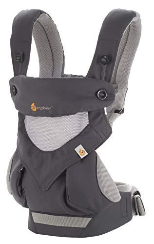 Ergobaby Ergonomische 4-in-1 babydraagtas, draagsysteem, voor kinderen tot 20 kg Cool Air mesh. Carbon Grey