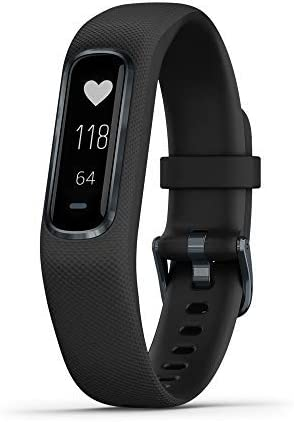 Garmin Vívosmart 4, Activity and Fitness Tracker w/Pulse Ox and Heart Rate Monitor, Midnight W/Black Band