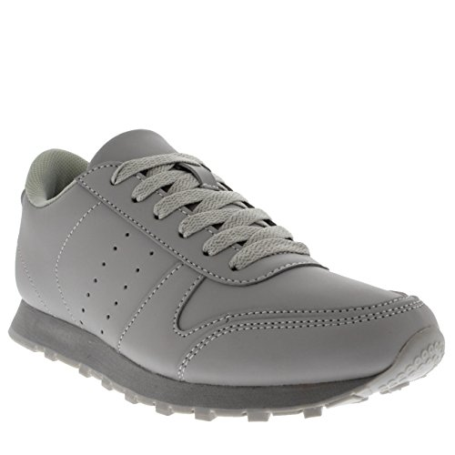 Mens Fitness Casual Work Out Low Top Flat Lace Up Athletic Gym Sneakers Gray lewljj
