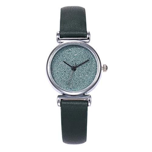 New Fashion Quartz Watch,Winsopee Women's Star Scrub Base Small Dial Exquisite and Beautiful Watch(Green)