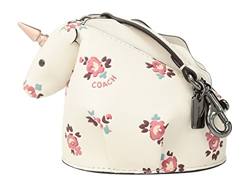 COACH Women's Floral Bloom Uni Coin Case Dk/Chalk Multi One Size by Coach