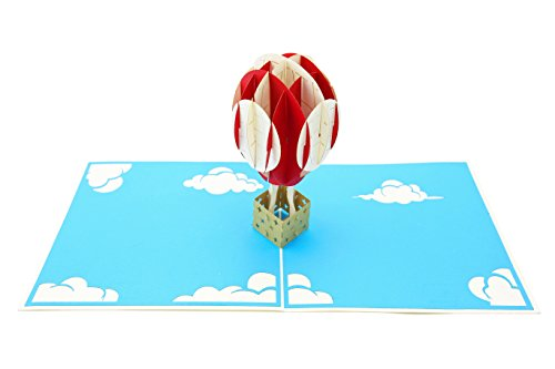 - PopLife Hot Air Balloon & Sky 3D Pop Up Greeting Card for All Occasions - Travelers, Parents, Adventure Lovers - Folds Flat for Mailing - Birthday, Baby Shower, Graduation, Retirement, Anniversary