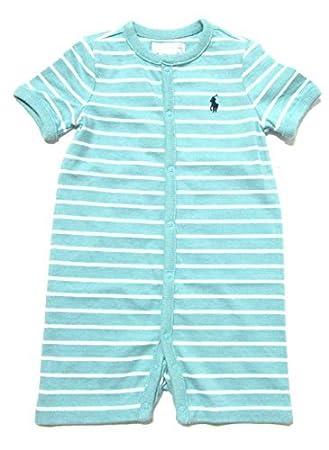 c8fed66bd Ralph Lauren Baby Boys  Short Sleeve Striped Bodysuit 1 Piece Outfit Onesie  (9 Months