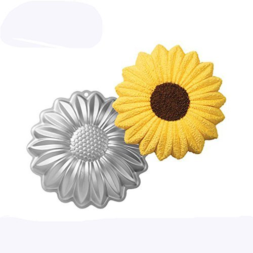 ZHYF 10-inch aluminum alloy three-dimensional cake mold sunflower shape baking tools bakeware