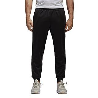 adidas Men's Athletics Essential Tricot 3 Stripe Tapered Pants, Black/Black, XX-Large
