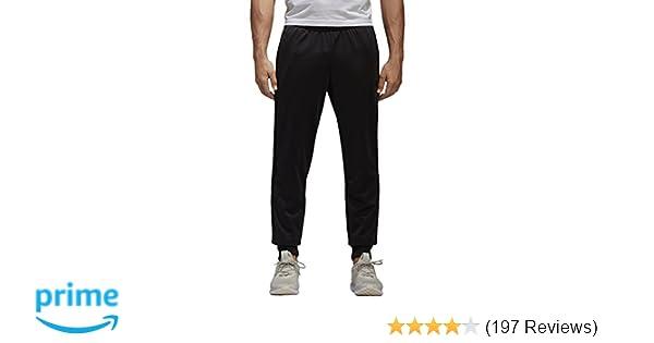 0591784b8 Amazon.com: adidas Men's Athletics Essential Tricot 3 Stripe Tapered Pants,  Black, Small: Clothing