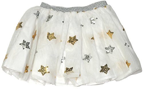 - Flapdoodles Toddler/Little Girls Tulle and Sequined Holiday Skirt (Egret, 2T)