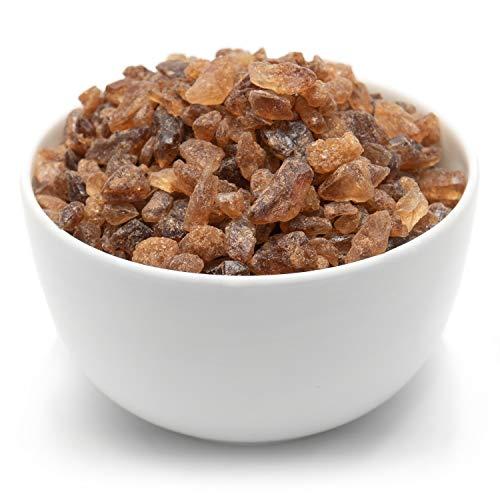 Tea Forte Amber Rock Sugar for Tea and Coffee, Pure Cane Sugar Crystals, 1 Pound Bag