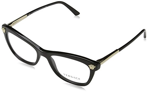 Versace Women's VE3224 Eyeglasses Black - Versace Glasses Frames Women For
