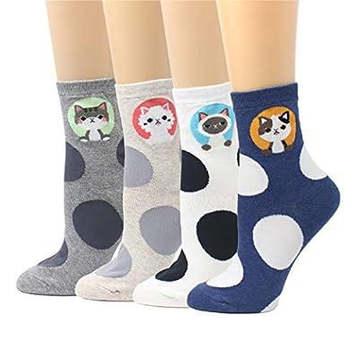 Livebear Women'S 4/5/8/10 Pair Cute Large Print Funny Novelty Crew Socks Made In Korea - Popular Anime