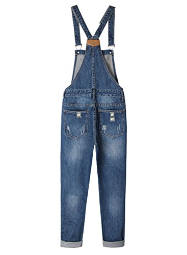 LEO BON Overalls for Women Loose Denim Jeans Rompers Jumpsuits Sleeveless Plus Size Overalls by LEO BON (Image #2)