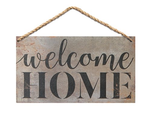 P. Graham Dunn Welcome Home Wood 6 x 3.5 Printed Overlay Mini Wall Hanging Plaque Sign