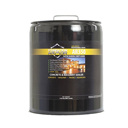 5 GAL Armor AR350 Solvent Based Acrylic Wet Look Concrete Sealer and Paver Sealer (Best Way To Paint Concrete Floor)