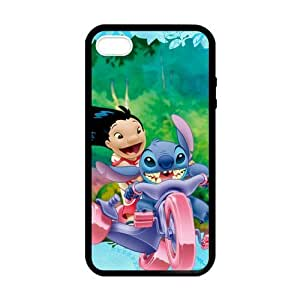 SUUER Rubber Silicone Lilo And Stitch Ohana Themes back ground Designer Personalized Custom Plastic Rubber Tpu CASE for iPhone 5 5s Durable Case Cover