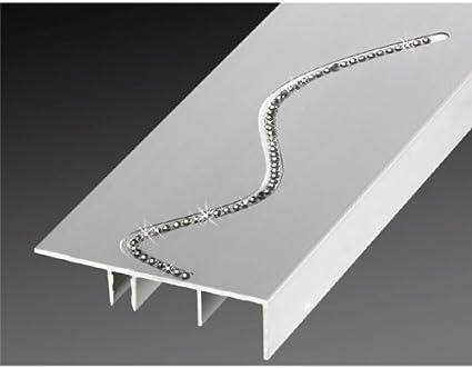 Aluminio rodapié / zócalo, con elementos de Swarovski (clic sistema), de «Küberit»: Amazon.es: Hogar