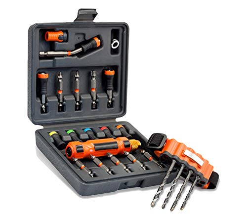 Magnet Driver Set DDN | Magnetic Drill, Drive and Nail Kit | For Power Tools and Hand Screwdrivers | Includes Power Bits, Drill Bits, and Magnetic Wrist Band Bit Holder