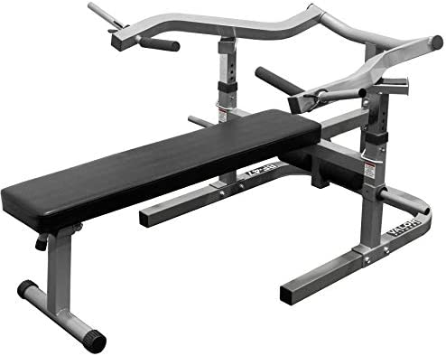 Valor Fitness BF-47 Adjustable Flat Incline Bench Press with Independent Converging Arms and Ab Crunch Feature
