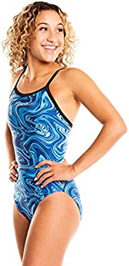 Flow Funky Girls Swimsuits - Size 23 to 30 One Piece Swimsuit for Practice and Competition in Ten Swim Suit De
