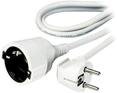 Vivanco SKV 10 W - Cable alargador de enchufe, 10 m, color blanco