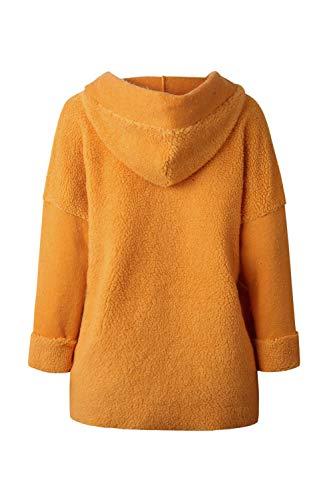 glissière à femmes à fermeture douces solides jaunes avec pour avec capuche Vestes poches CXpqwFI