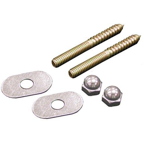 1/4'' x 2 1/2'' Brass Closet Screws w/ Oval Washer (box of 50 pairs)