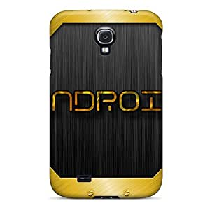 Hot Fashion IwWPTZl4233ONQfb Design Case Cover For Galaxy S4 Protective Case (android Gold)