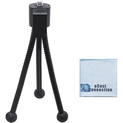 5 Inch Mini Tripod w/ Spider Flex Legs + a Micro Fiber Cleaning Cloth by eCost