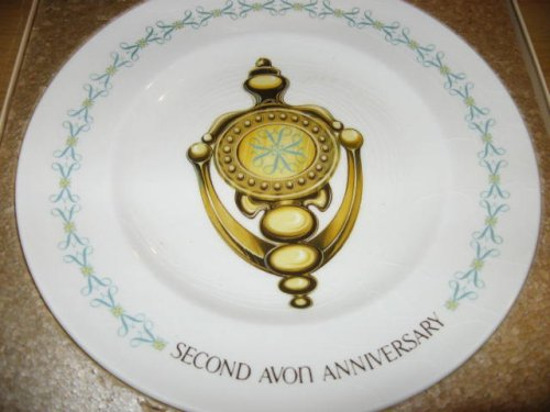 Avon Vintage Doorknocker' 2nd Anniversary Plate in Box