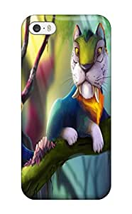 Premium GaunELo6hXwIE Case With Scratch-resistant/ Magical Animals Tigers The Croods Branches Fantasy Cartoons Tiger Parrot Case Cover For Iphone 5/5s